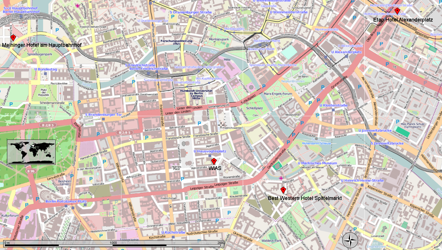 Berlin Map Alexanderplatz